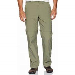 COLUMBIA convertible PFG Omi-shade olive pants XL